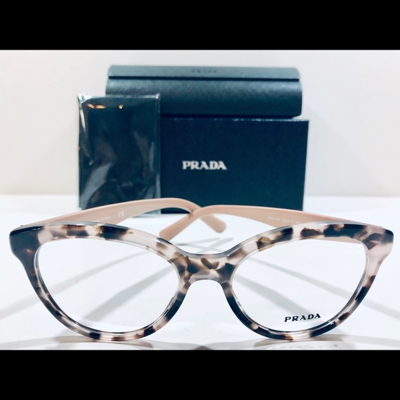 152ea27399e6 Prada Eyeglasses HERITAGE Pink Havana Cat Eye New